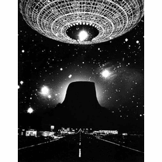 "Close Encounters Of The Third Kind Black and White Poster 24""x36"""