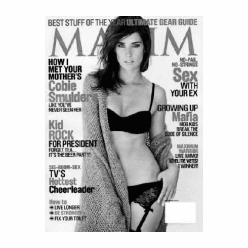 """Cobie Smulders Black and White Poster 24""""x36"""""""