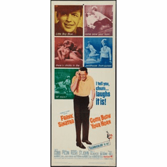 Come Blow Your Horn Movie Poster Insert 14x36 #01