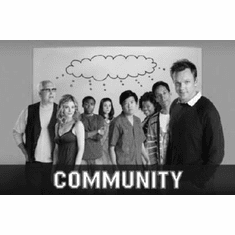 """Community Black and White Poster 24""""x36"""""""