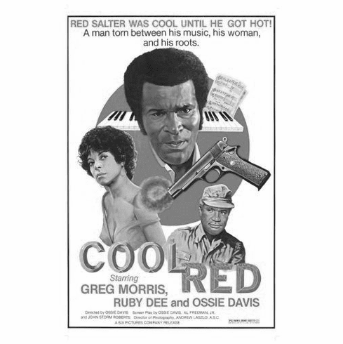 """Cool Red Black and White Poster 24""""x36"""""""