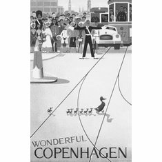 "Copenhagen Black and White Poster 24""x36"""