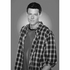 """Cory Monteith Black and White Poster 24""""x36"""""""