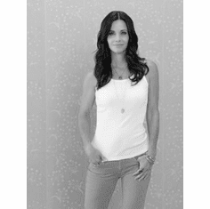 """Courteney Cox Black and White Poster 24""""x36"""""""