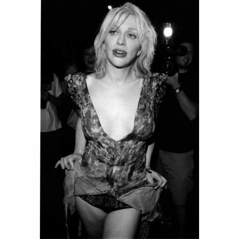 "Courtney Love Black and White Poster 24""x36"""