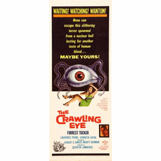 Crawling Eye The Movie Poster Insert 14x36 #01