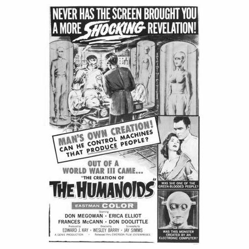 "Creation Of Humanoids The Black and White Poster 24""x36"""