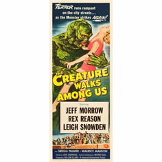 Creature Walks Among Us 14x36 Insert Movie Poster