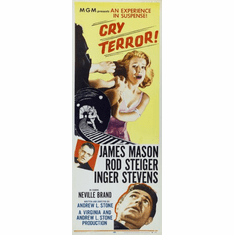 Cry Terror 14x36 Insert Movie Poster