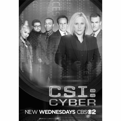 "Csi Cyber Black and White Poster 24""x36"""