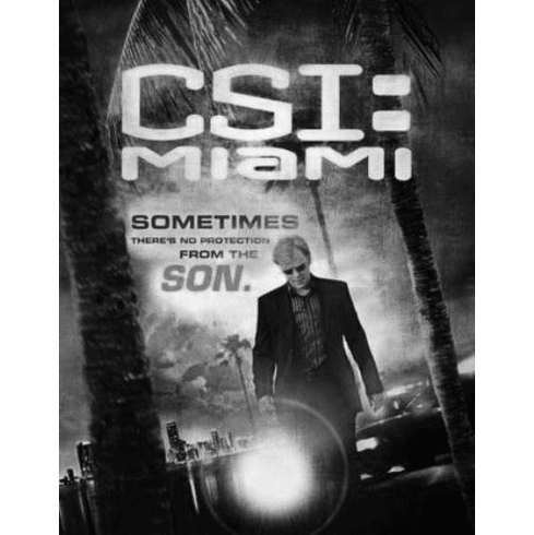 "Csi Miami Black and White Poster 24""x36"""