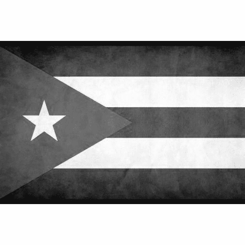 """Cuba Black and White Poster 24""""x36"""""""