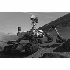 """Curiousity Mars Rover Black and White Poster 24""""x36"""""""