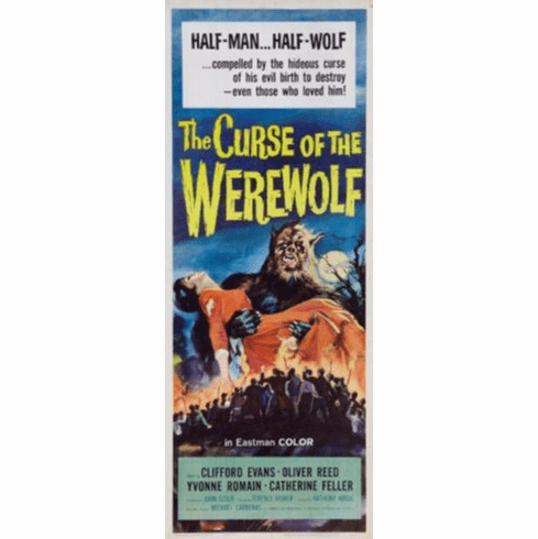 Curse Of The Werewolf Insert Movie Poster 14x36
