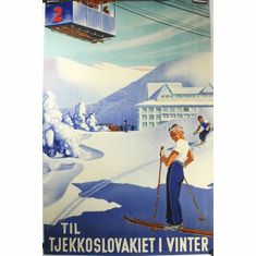 Czechoslovakia Tourism Poster 24in x36in