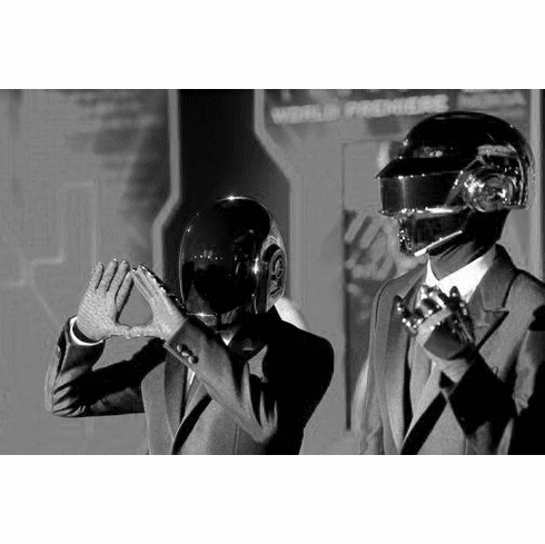 "Daft Punk Black and White Poster 24""x36"""