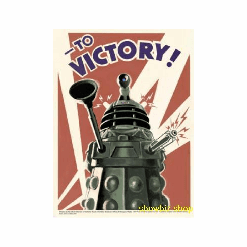 Dalek Dr. Who Poster To Victory! 24inx36in