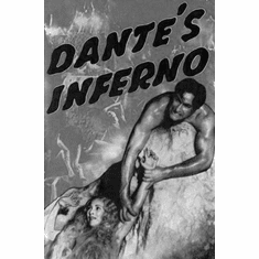 """Dantes Inferno Black and White Poster 24""""x36"""""""