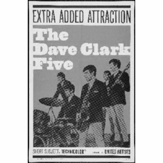 "Dave Clark Five Black and White Poster 24""x36"""