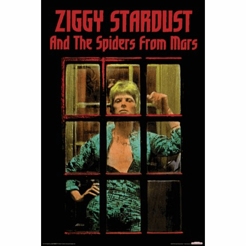 David Bowie Ziggy Stardust and the Spiders from Mars Poster