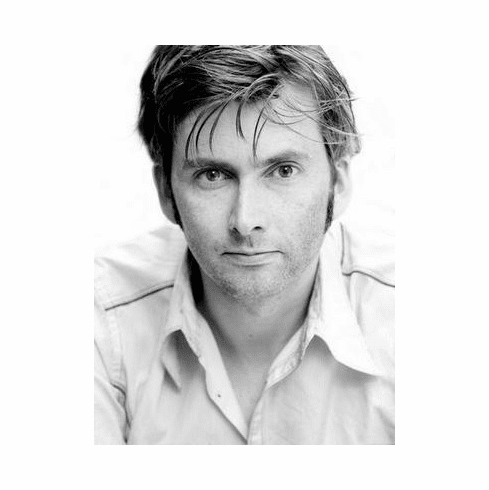 David Tennant Poster Bw Portrait 24in x36 in