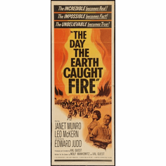 Day The Earth Caught Fire 14x36 Insert Movie Poster