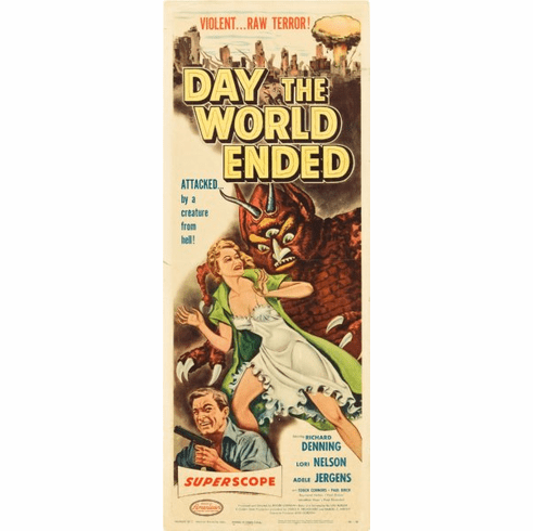 Day The World Ended 14x36 Insert Movie Poster