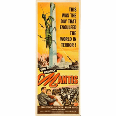 Deadly Mantis Movie Poster Insert 14x36