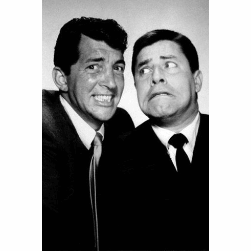 """Dean Martin Jerry Lewis Black and White Poster 24""""x36"""""""