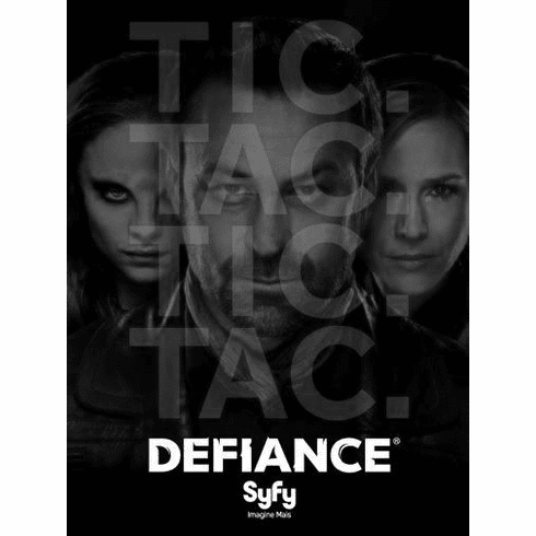 "Defiance Black and White Poster 24""x36"""