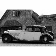 """Derby Bentley Black and White Poster 24""""x36"""""""