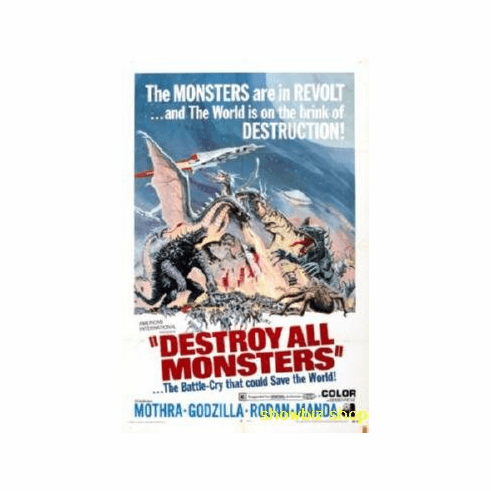 Destroy All Monsters Movie 8x10 photo Master Print