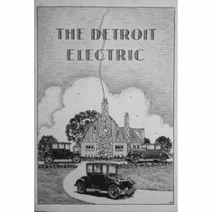 "Detroit Electric Black and White Poster 24""x36"""