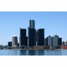 Detroit Skyline Poster 24inx36in