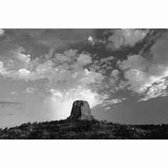 """Devils Tower Black and White Poster 24""""x36"""""""
