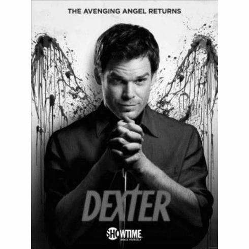 "Dexter Black and White Poster 24""x36"""