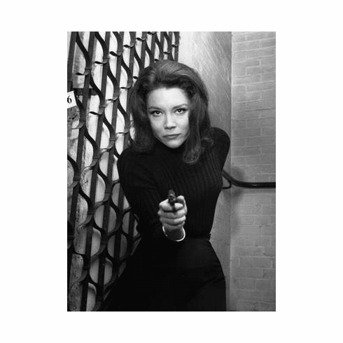 Diana Rigg Poster Avengers Gun 24in x36 in