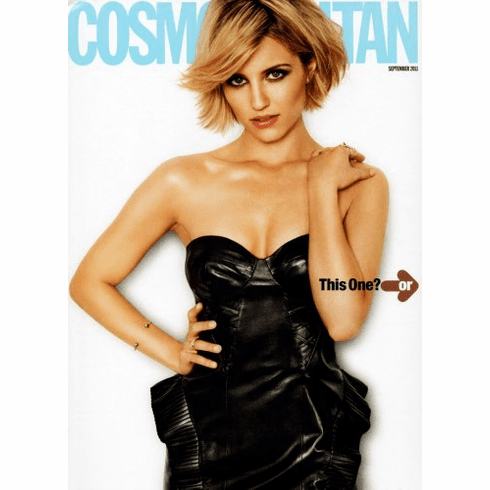 Dianna Agron Poster 25x36 Cosmopolitan Cover 24inx36in