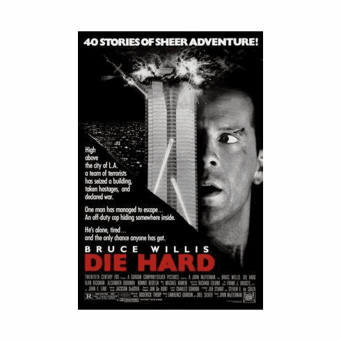 Die Hard Movie Poster 24in x36 in