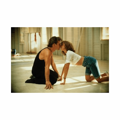 Dirty Dancing Movie Poster Patrick Swayze Classic Kiss 24in x36 in