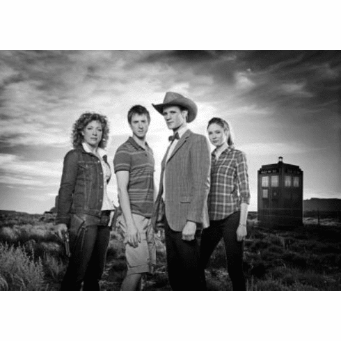 "Doctor Who Black and White Poster 24""x36"""