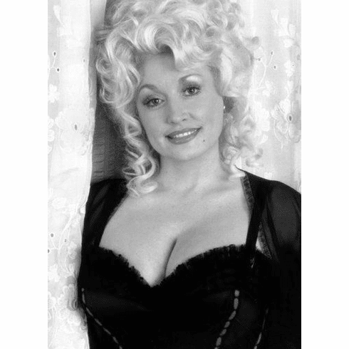 "Dolly Parton Black and White Poster 24""x36"""