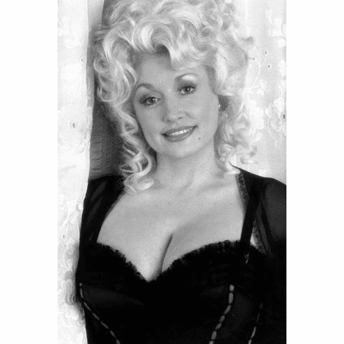 """Dolly Parton Black and White Poster 24""""x36"""""""