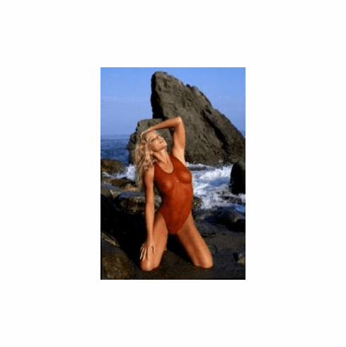 Donna Derrico Red See-Thru Swimsuit 8x10 photo master print