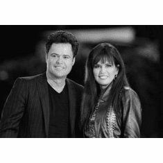 """Donny And Marie Osmond Black and White Poster 24""""x36"""""""