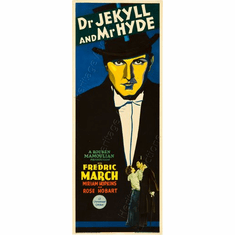 Dr. Jeckyl And Mr Hyde 14inx36in Insert Movie Poster
