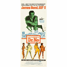 Dr. No Movie Poster Insert 14x36 #01