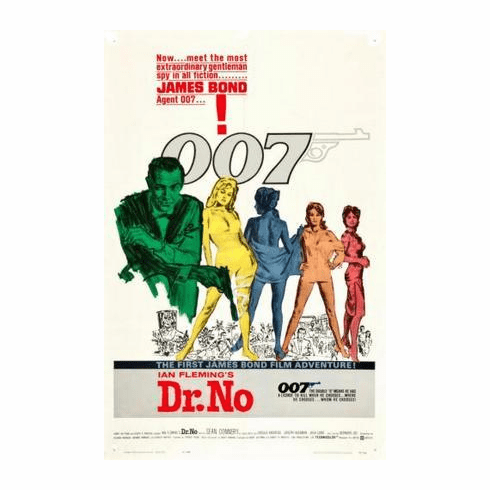 Dr No Movie Poster James Bond 11x17 Mini Poster