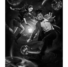 """DR. WHO Black and White Poster 24""""x36"""""""