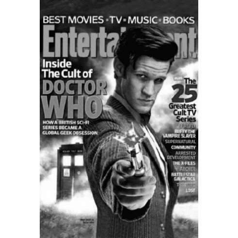 """Dr Who Entertainment Weekly Cover Black and White Poster 24""""x36"""""""
